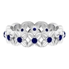 0.50 CT Blue Sapphire Floral Band