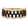 1.50 CT Baguette Cut Black Spinel and Accent Diamond Wedding Band
