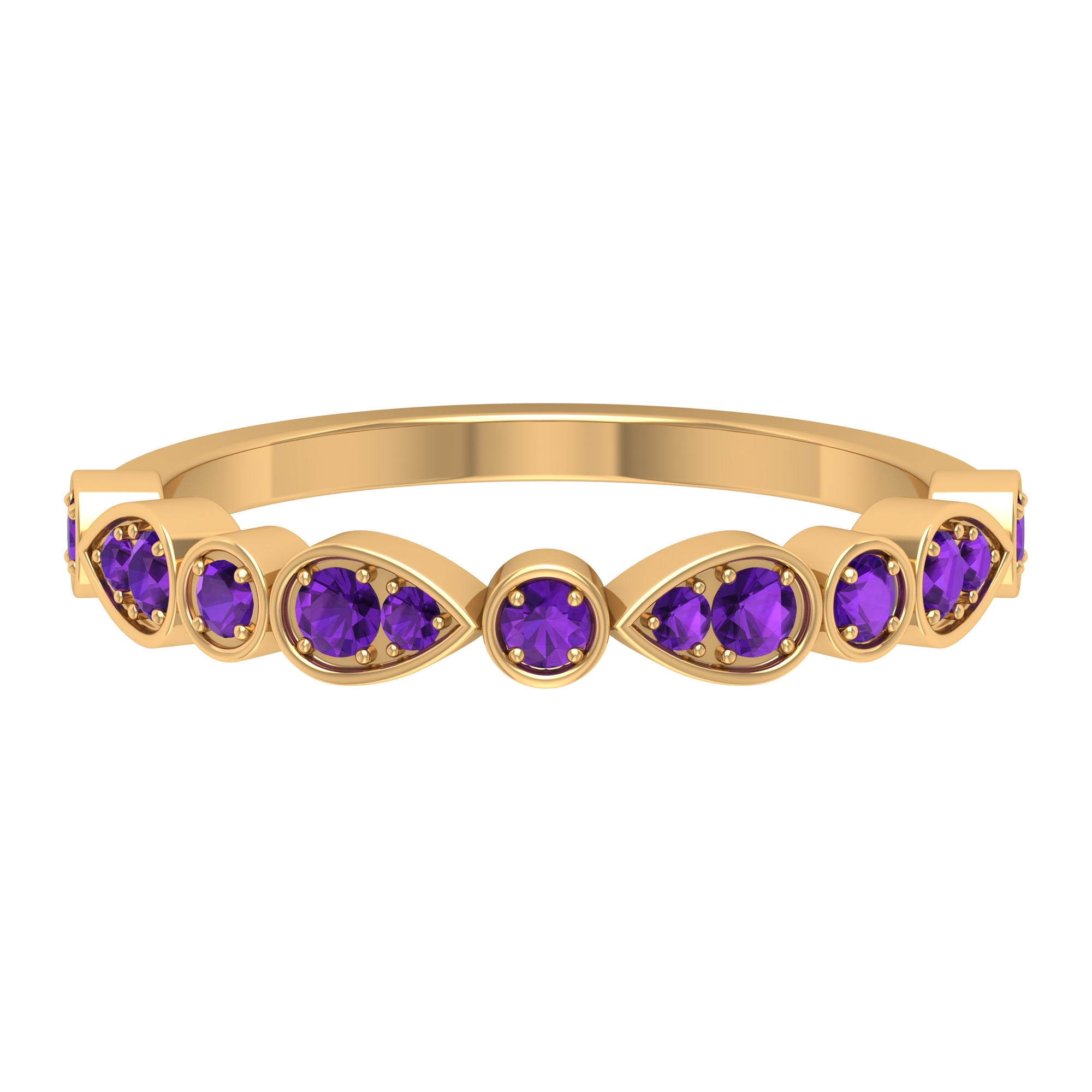 0.50 CT Amethyst Stackable Ring