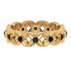 0.50 CT Black Onyx Floral Band Ring