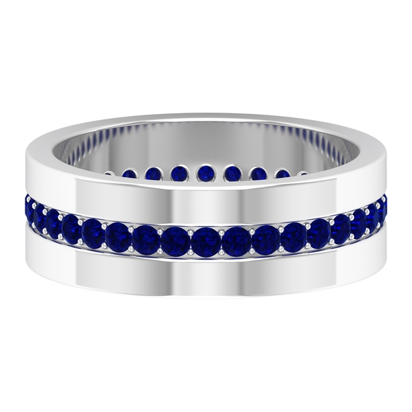 0.75 CT Blue Sapphire Eternity Band Ring