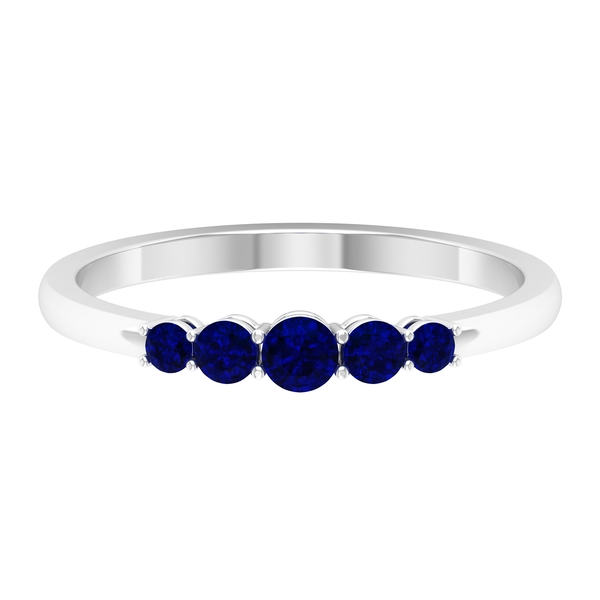 0.50 CT Five Stone Blue Sapphire Ring