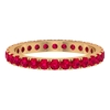 1 CT French Pave Set Created Ruby Eternity Ring
