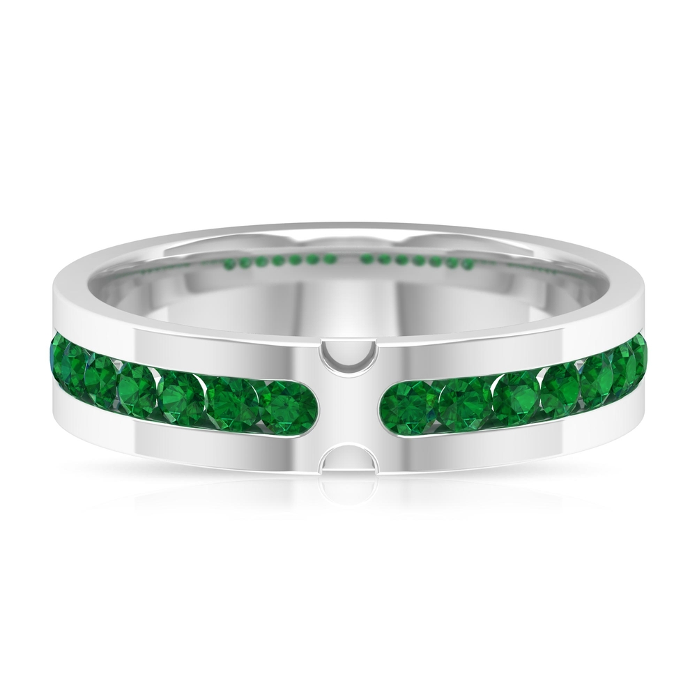 0.50 CT Emerald Channel Set Band