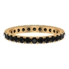 1 CT French Pave Set Black Spinel Eternity Ring