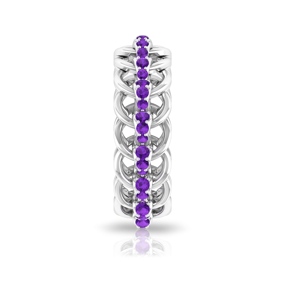 3/4 CT Amethyst Chain Eternity Ring For Women