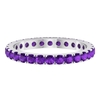 1 CT French Pave Set Amethyst Eternity Ring