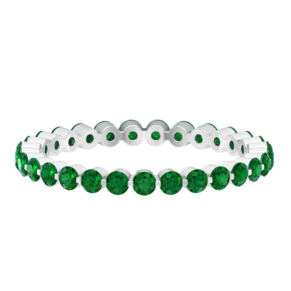 1.25 CT Emerald Floating Eternity Band for Women