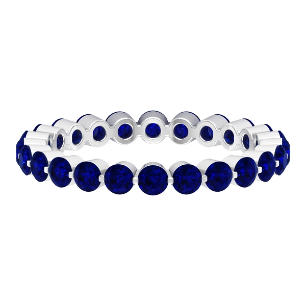 2.50 CT Blue Sapphire Floating Eternity Band Ring For Women