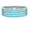 Semi Eternity Four Row Band Ring with 0.50 CT Swiss Blue Topaz