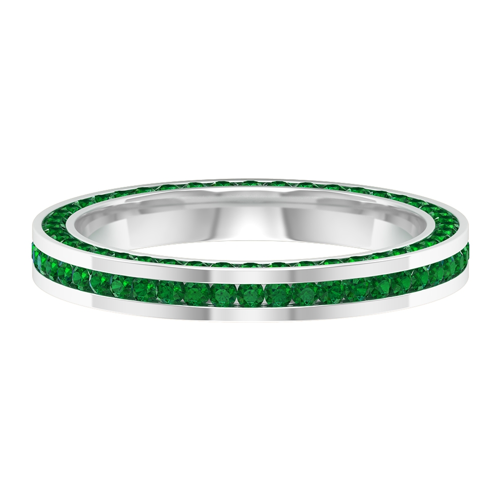 1.50 CT Emerald Channel Set Eternity Band