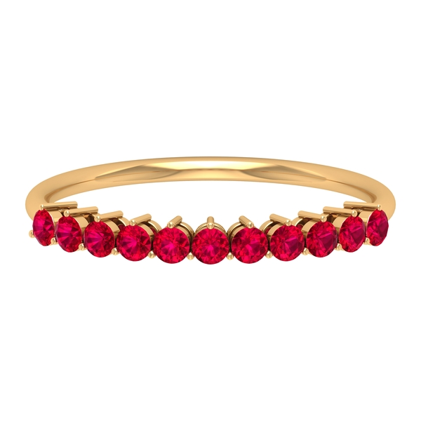 0.50 CT Created Ruby Enhancer Band Ring