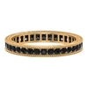 3/4 CT Black Spinel Eternity Ring with Milgrain Details