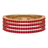 3/4 CT Pave Set Ruby Four Row Band Ring
