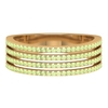 1/2 CT Pave Set Peridot Four Row Band Ring