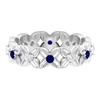 0.50 CT Blue Sapphire and Diamond Floral Band Ring