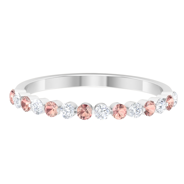Half Eternity Band with 0.50 CT Created Morganite