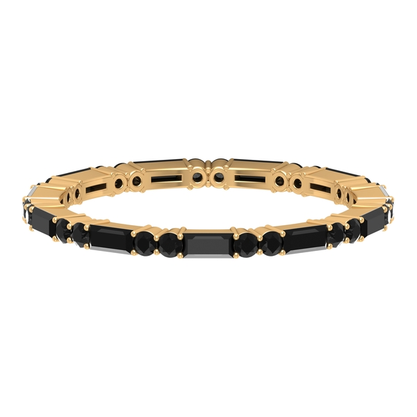 1 CT Black Onyx Eternity Stackable Band ring for Women
