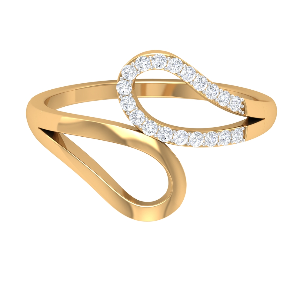 1/4 CT Prong Set Diamond and Gold Minimal Ring For Women