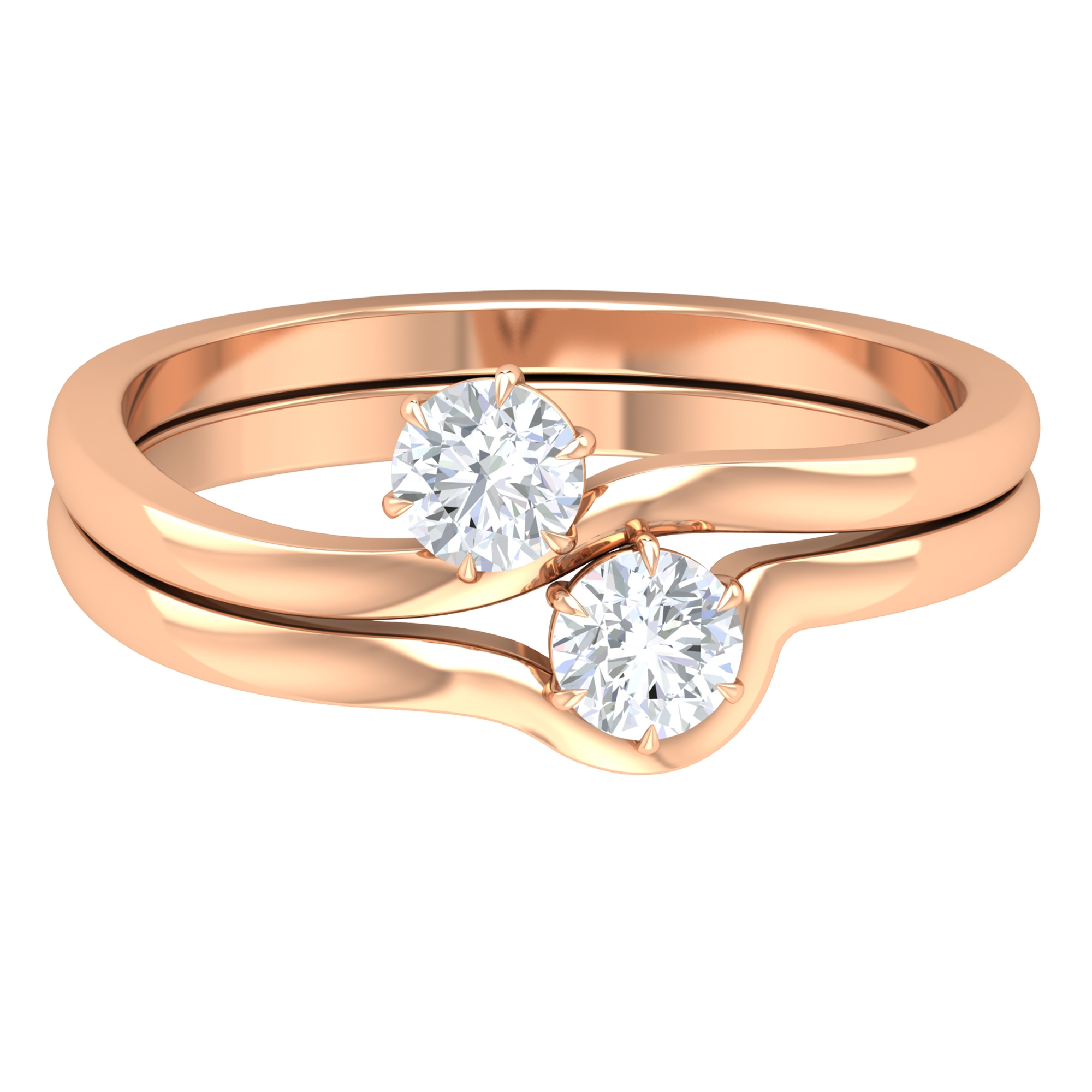 1/2 CT Round Shape Diamond Solitaire Ring Set in 6 Claw Prong Setting