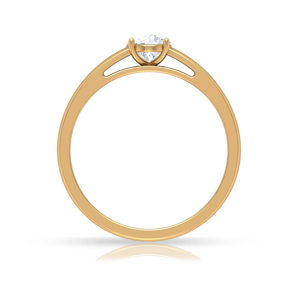 1/2 CT Round Cut Diamond Solitaire Ring in 4 Prong Seting