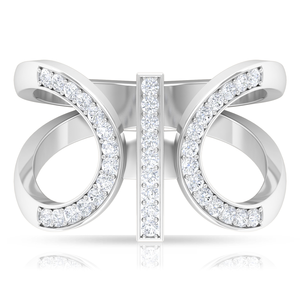 1/2 CT Split Shank Diamond Cocktail Ring in PinPoint Seting