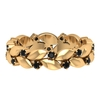 1/2 CT Black Diamond and Gold Leaf Eternity Band Ring