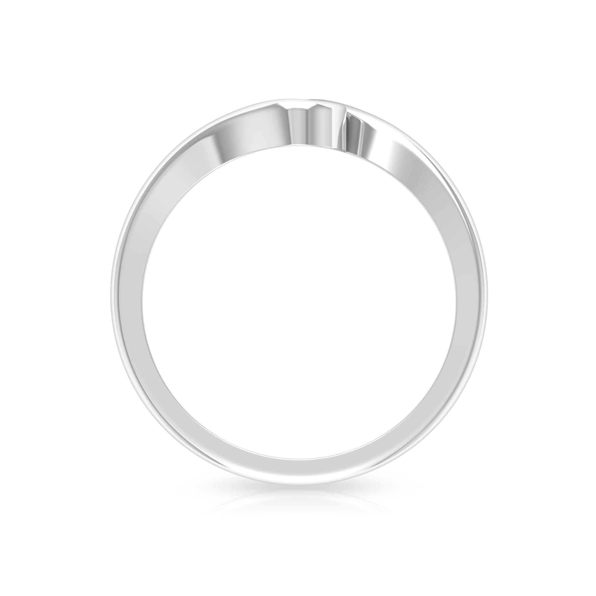 4 MM Round Cut Diamond Solitaire Ring in Bypass Setting