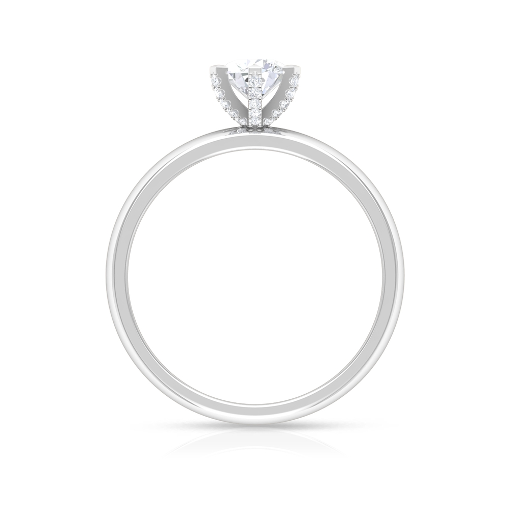3/4 CT Round Cut Diamond Solitaire Ring in Decorative 6 Prong Setting