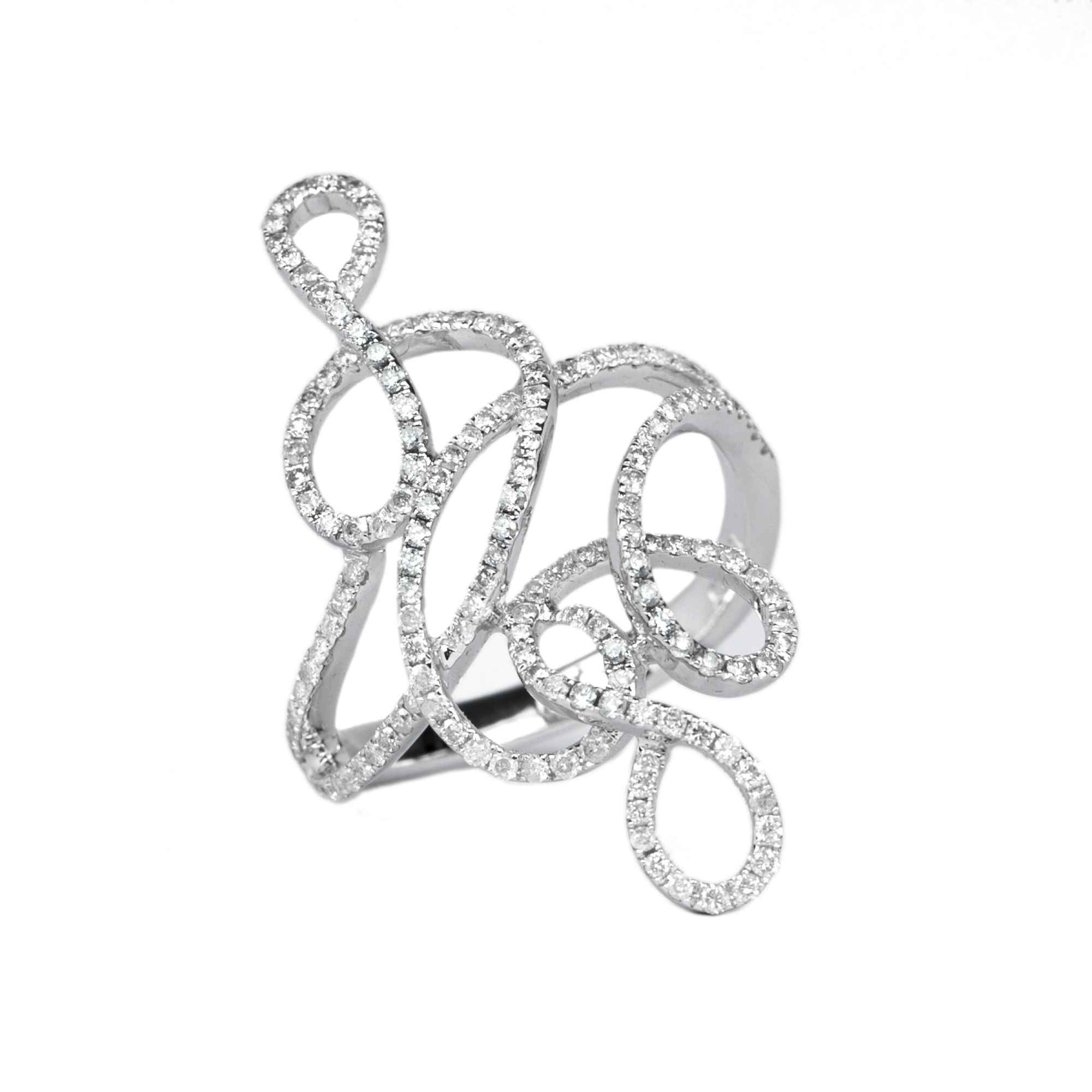 3/4 CT Pave Set Diamond Cocktail Ring for Women