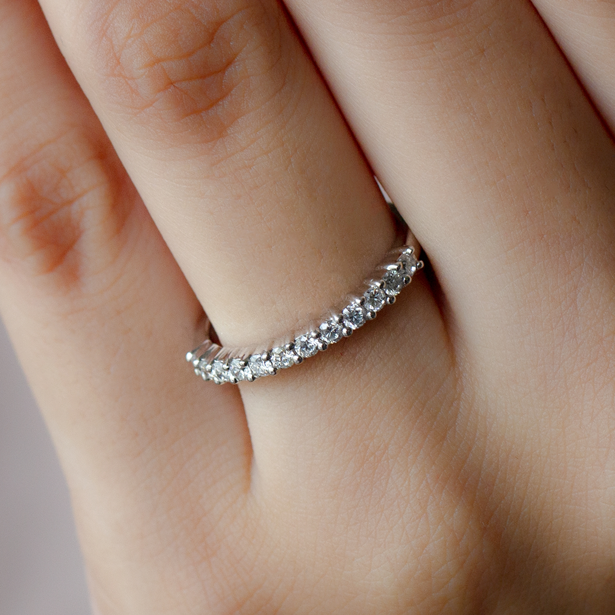 April Birthstone 1/2 CT Diamond Stackable Ring for Women