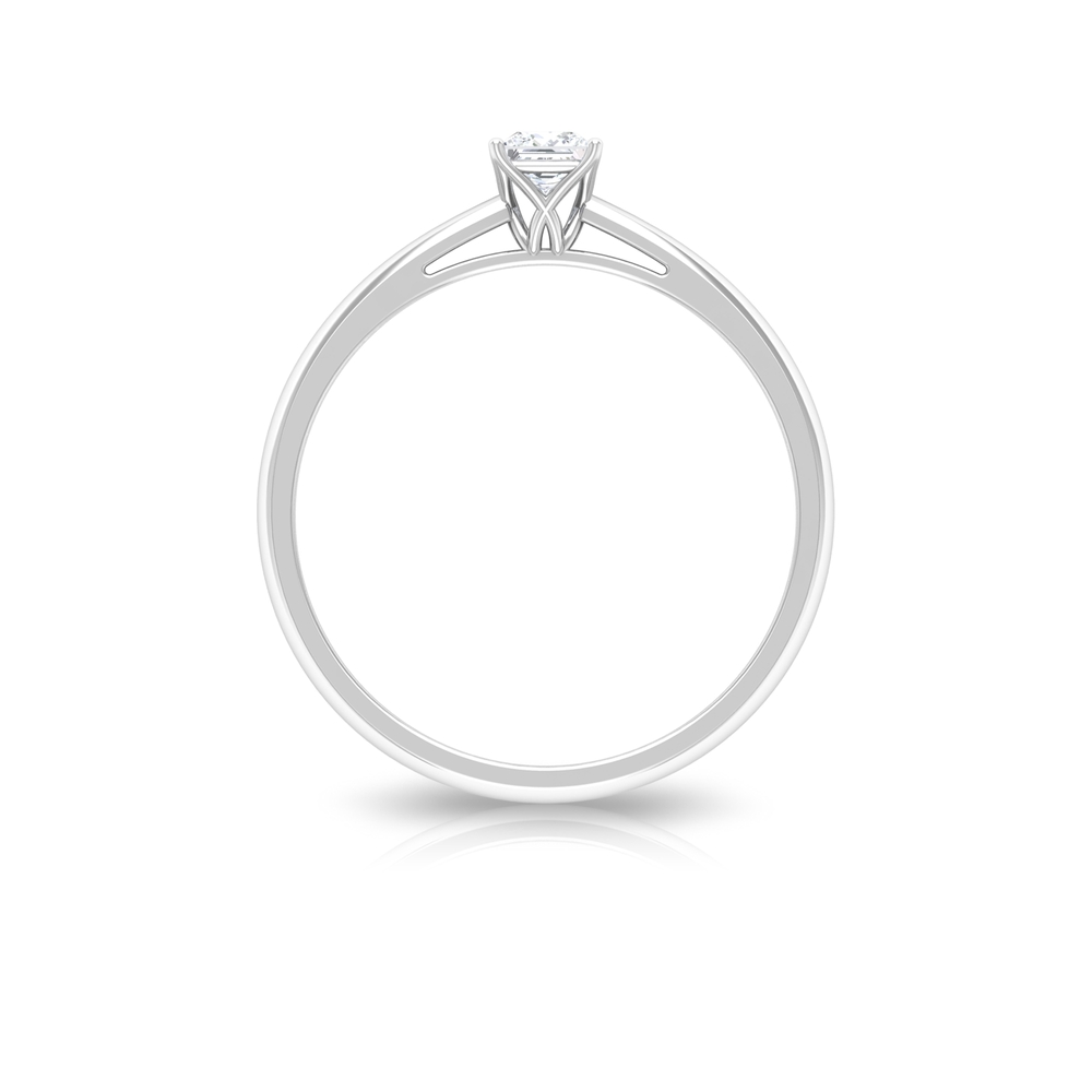 Princess Cut Decorative Diamond Solitaire Ring in 4 Prong Setting