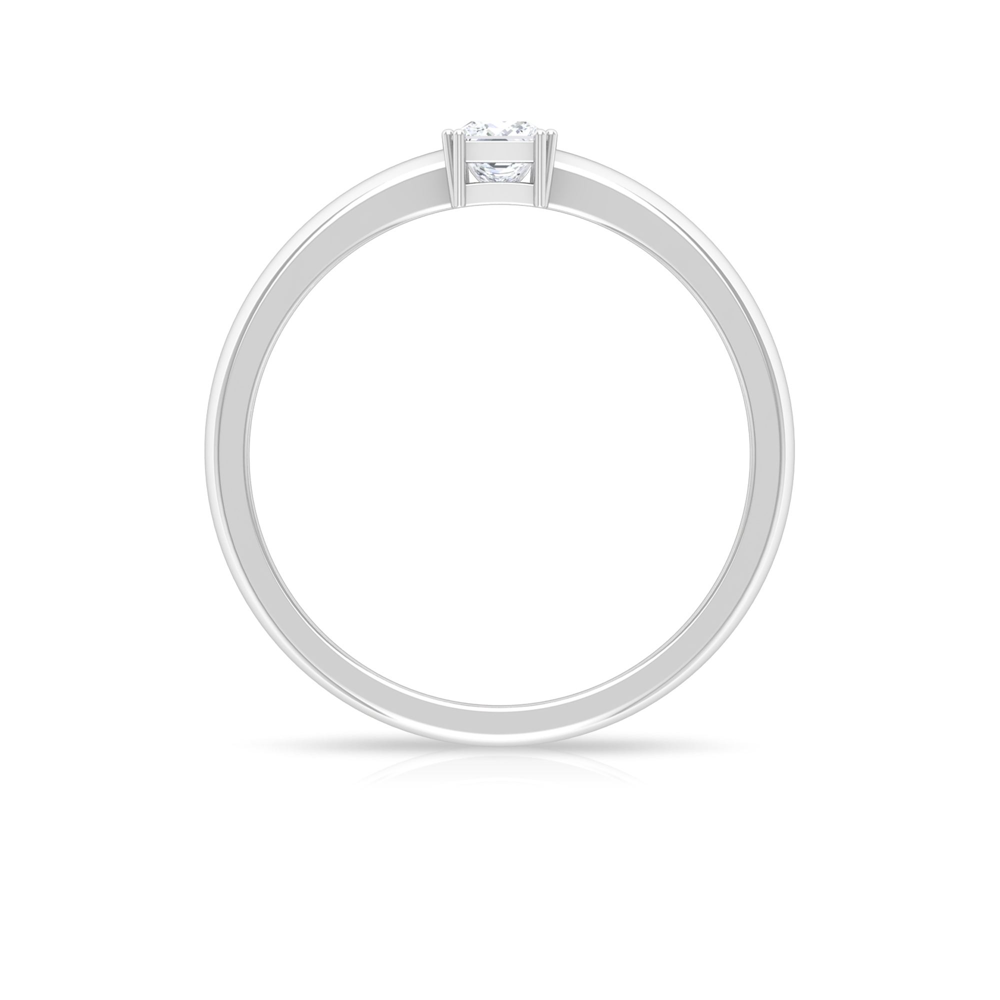 Princess Cut Diamond Solitaire Ring in Double Prong Setting