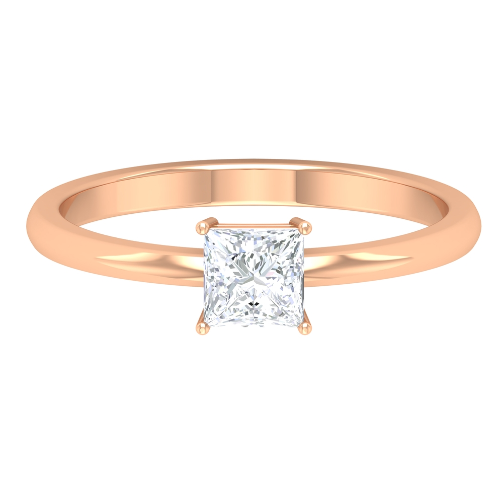 4 Prong Set Diamond Solitaire Ring for Women