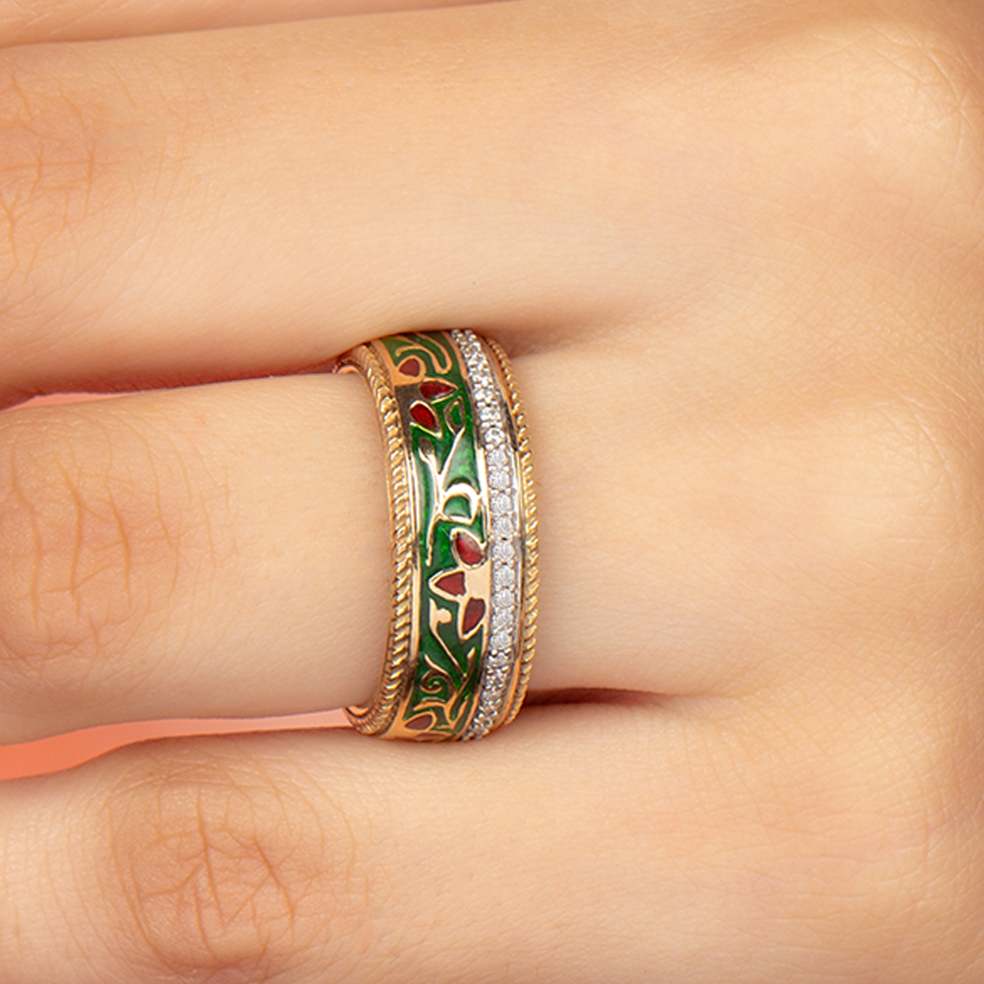 1/4 CT Diamond Accent Band Ring for Women