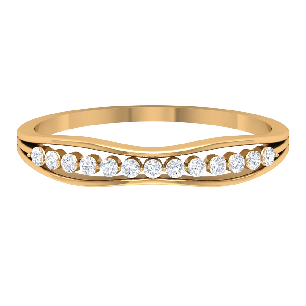 Simple Diamond Stackable Enhancer Ring