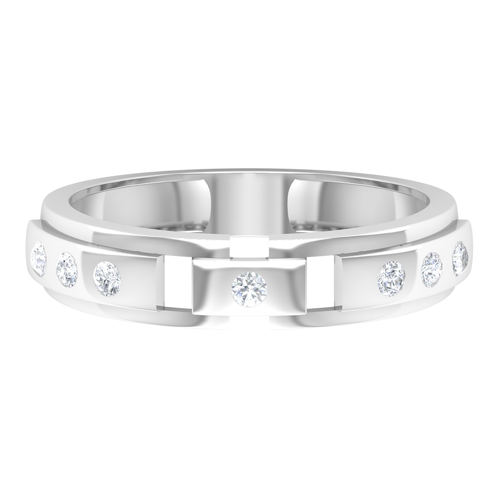Unisex Diamond Band Ring in Gold