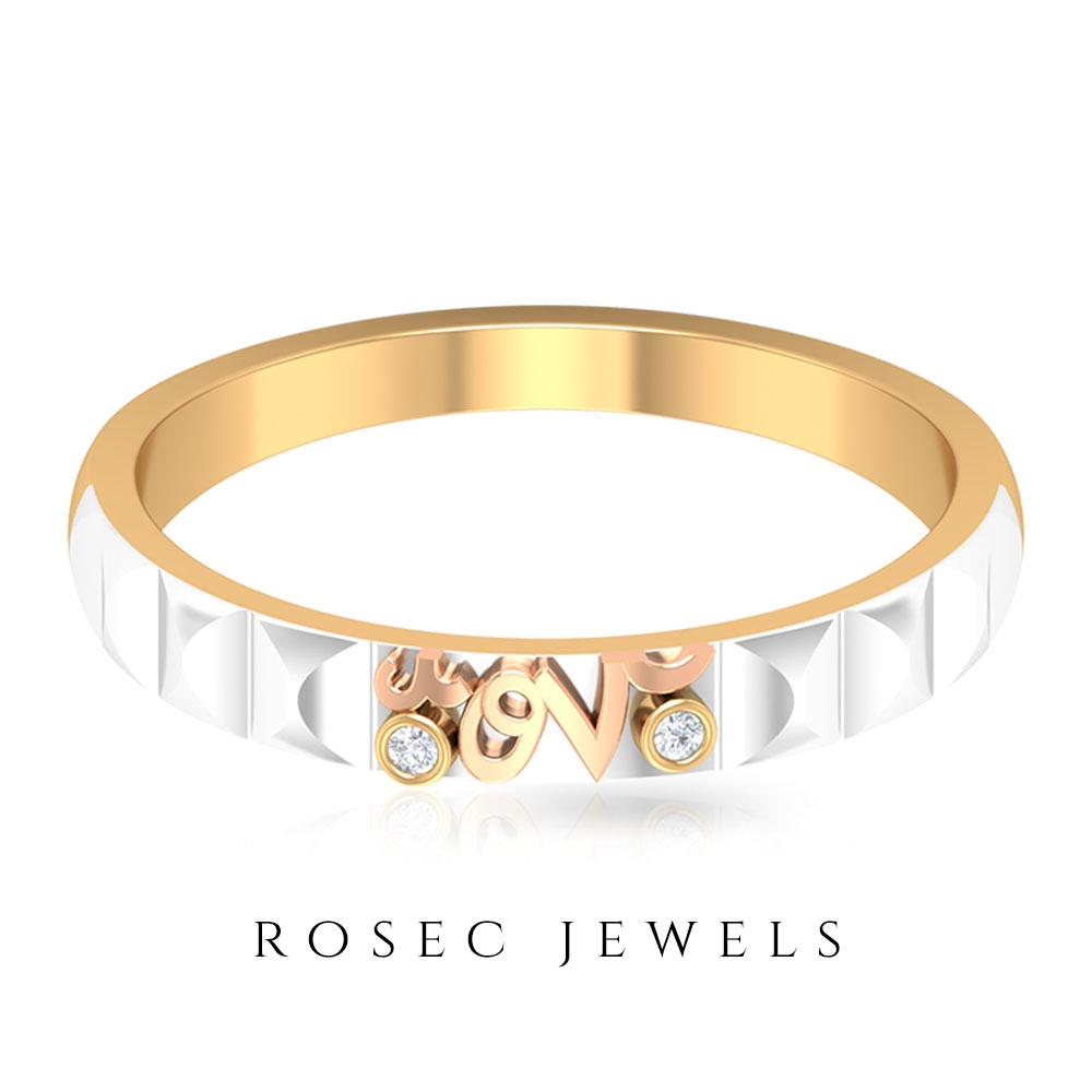 Diamond Two Tone Gold Forever Love Ring