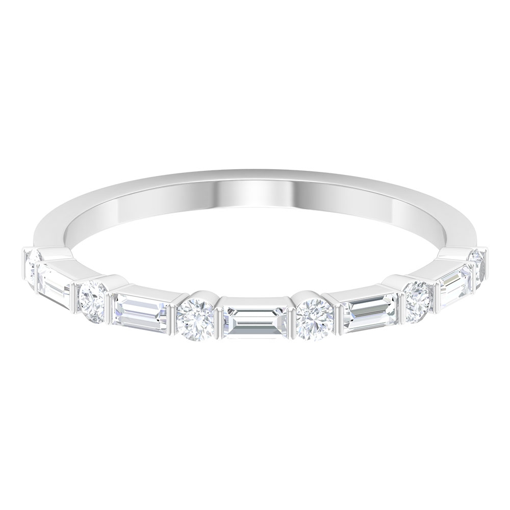 1/2 CT Baguette and Round Diamond Anniversary Ring