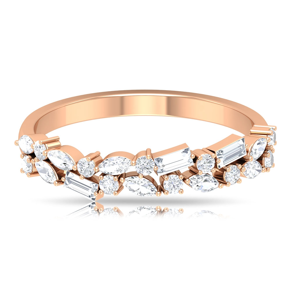 3/4 CT Diamond Anniversary Band Ring in Prong Setting