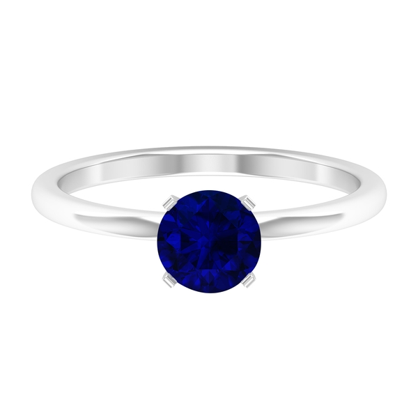 1 CT Blue Sapphire Simple Engagement Ring