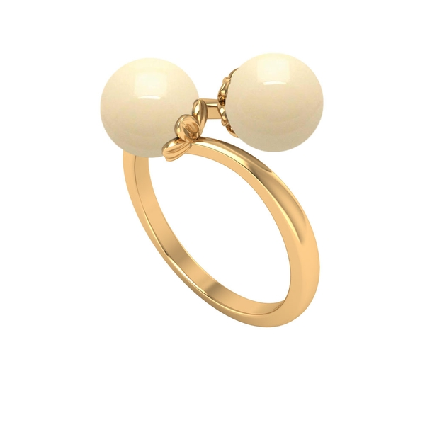 Wrap Ring with 5 CT Japanese Cultured Pearl