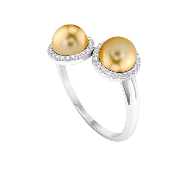 Wrap Ring with 6.25 CT South Sea Pearl and Diamond