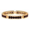 1/2 CT January Birthstone Garnet Stackable Ring for Women