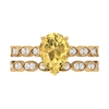 2.5 CT Pear Cut Citrine Vintage Engagement Ring and Moissanite Eternity Wedding Ring Set