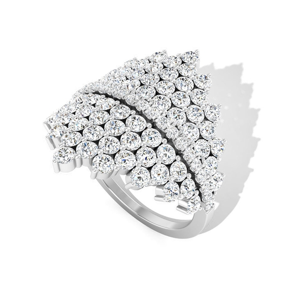 2.75 CT Diamond Cluster Cocktail Ring