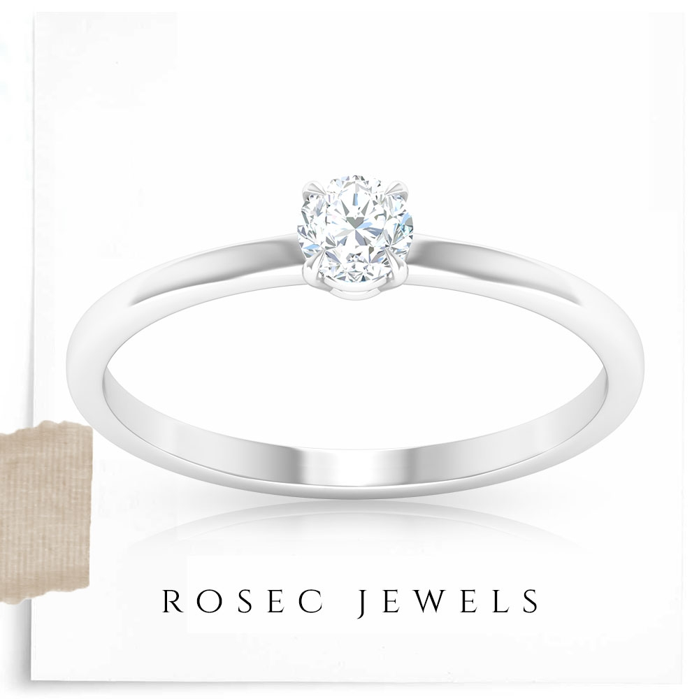 3/4 CT Dainty Diamond Solitaire Ring