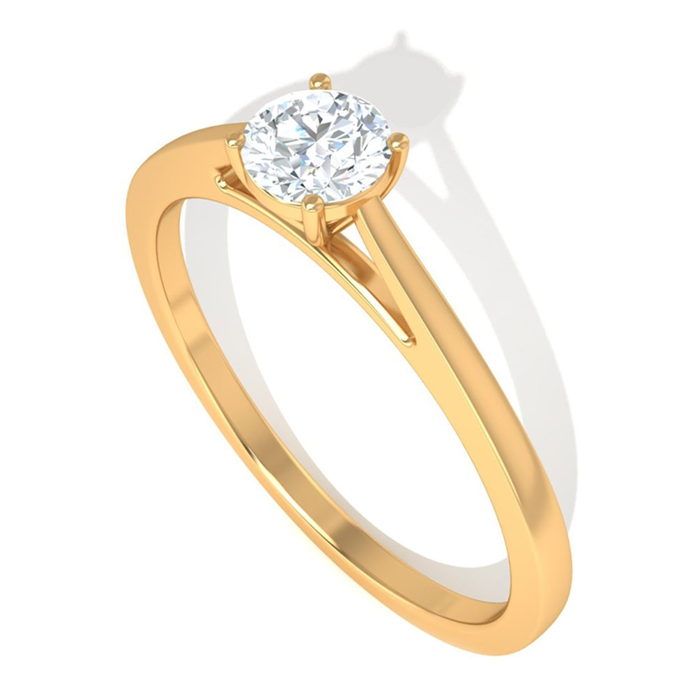 3/4 CT Round Cut Diamond Solitaire Ring in 4 Prong Setting