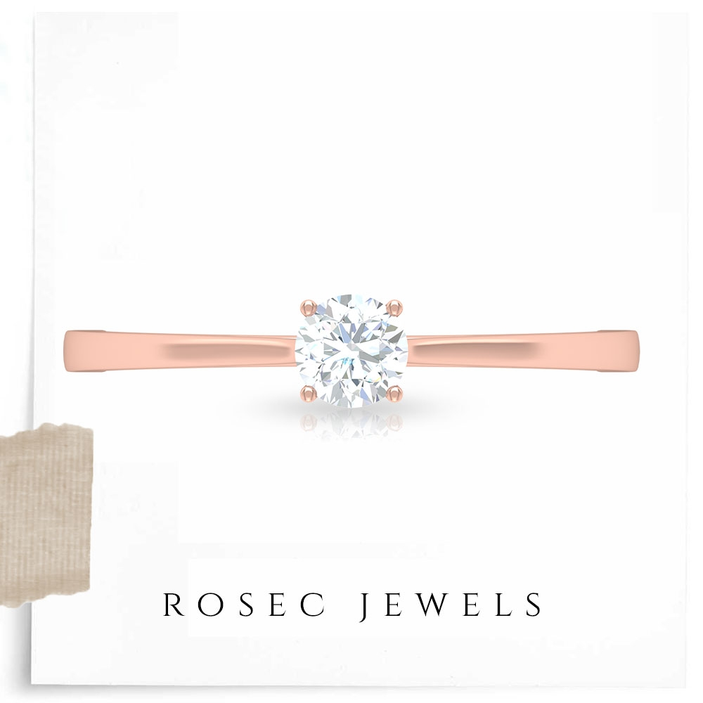 1/2 CT Classic Diamond Solitaire Ring in 4 Prong Setting