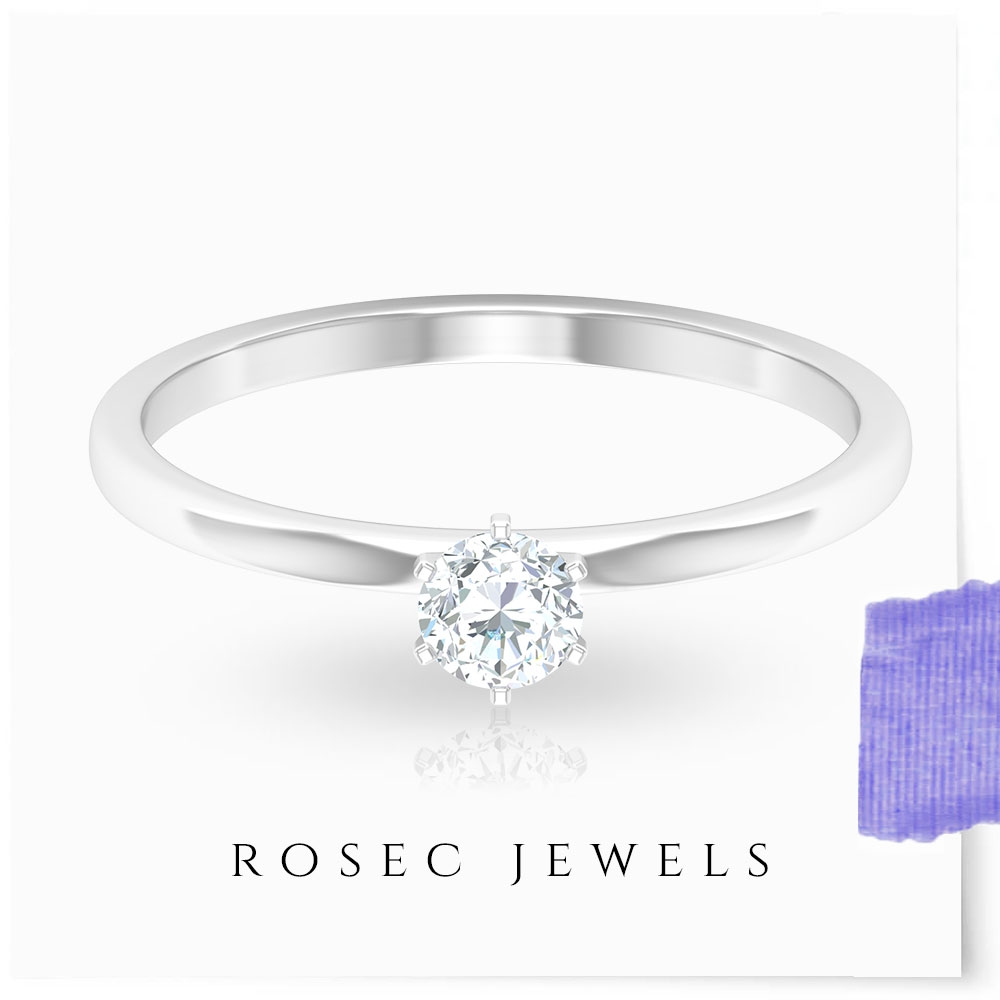 1 CT Diamond Solitaire Ring for Women